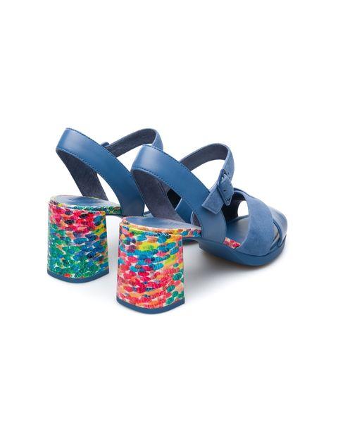 کفش پاشنه بلند چرم زنانه Kara - آبي - 3
