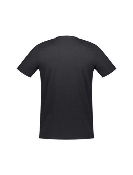 تی شرت نخی یقه هفت مردانه - مشکي - 2