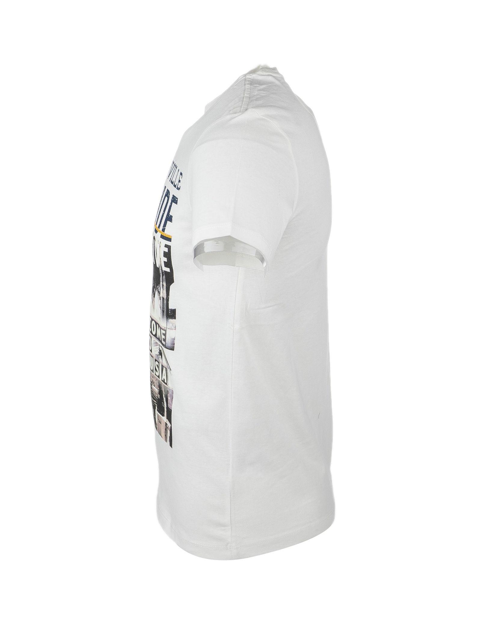 تی شرت نخی یقه گرد مردانه - یوپیم - شيري - 2