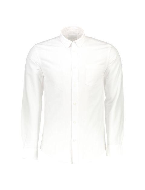 پیراهن نخی آستین بلند مردانه Jay 2.0 - سفيد - 1