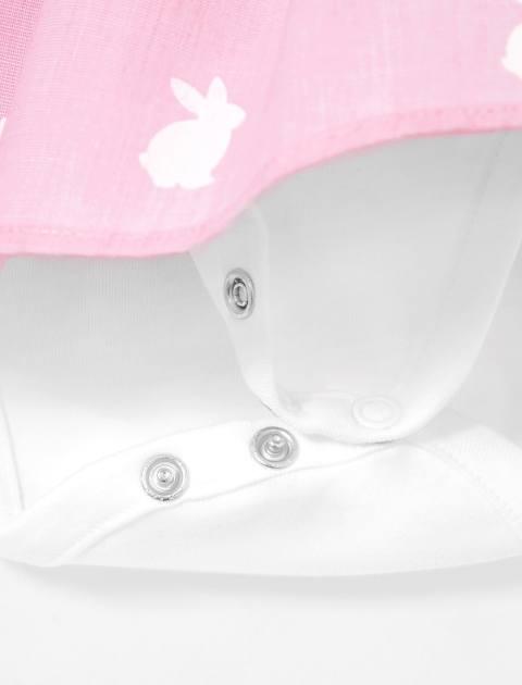 پیراهن نخی نوزادی دخترانه Lacina - جاکادی - صورتي - 4