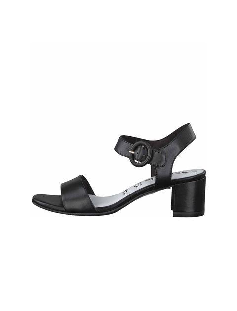کفش پاشنه بلند چرم زنانه - تاماریس - مشکي - 2