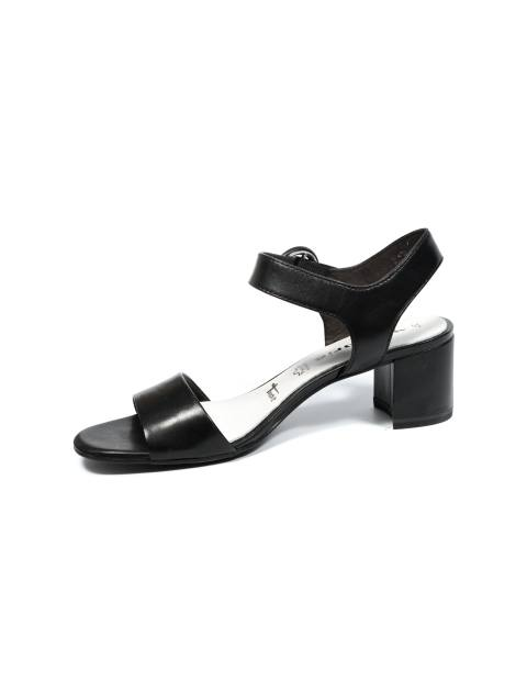 کفش پاشنه بلند چرم زنانه - مشکي - 4