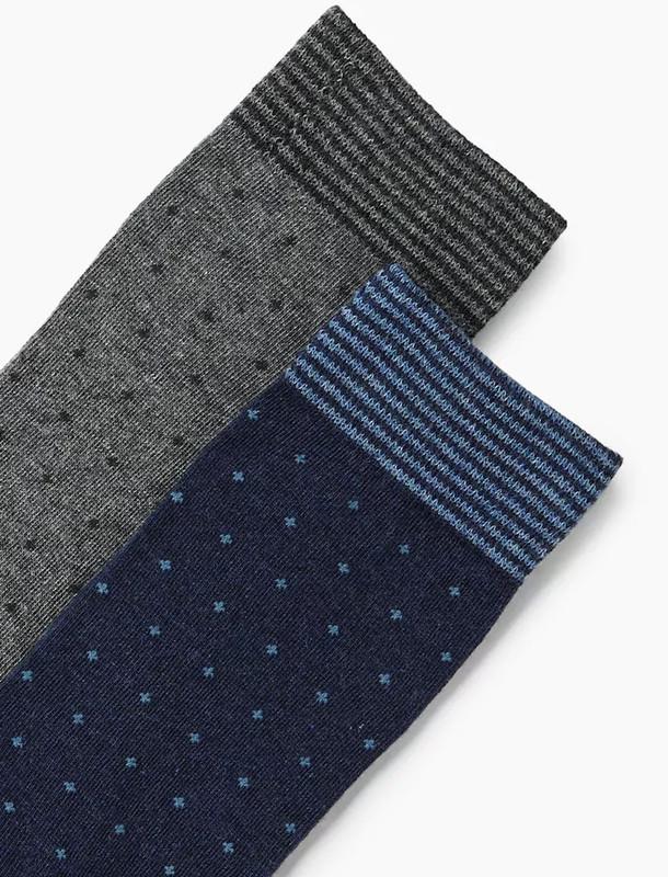 جوراب نخی ساق متوسط مردانه بسته 2 عددی