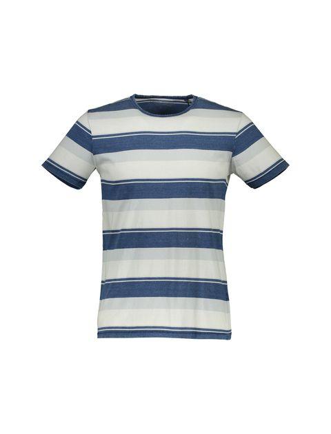 تی شرت نخی یقه گرد مردانه - یوپیم - آبي و طوسي  - 1