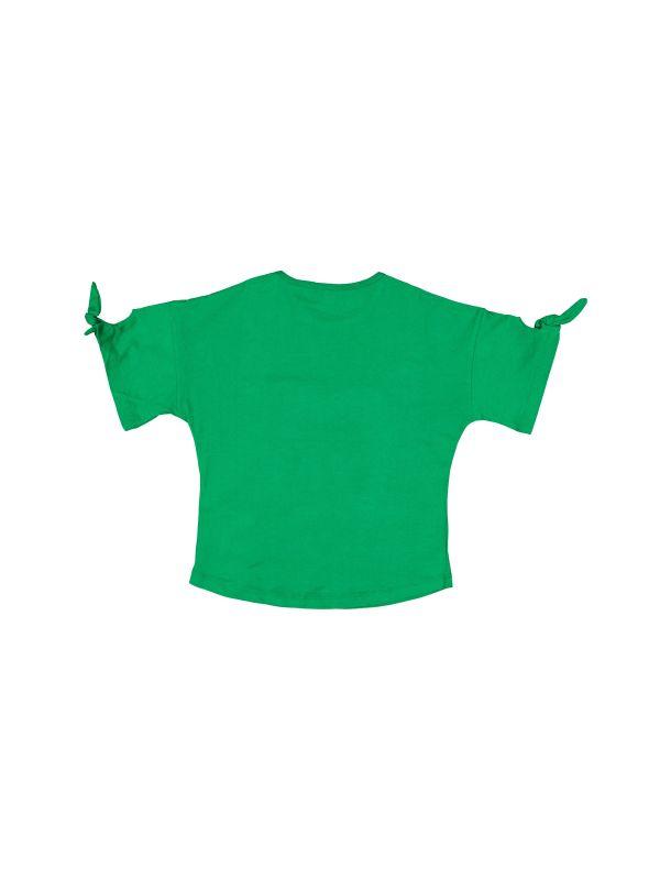 تی شرت نخی یقه گرد دخترانه - کوتون