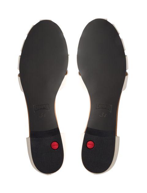 کفش چرم تخت زنانه Servolux - کمپر - سفيد - 2