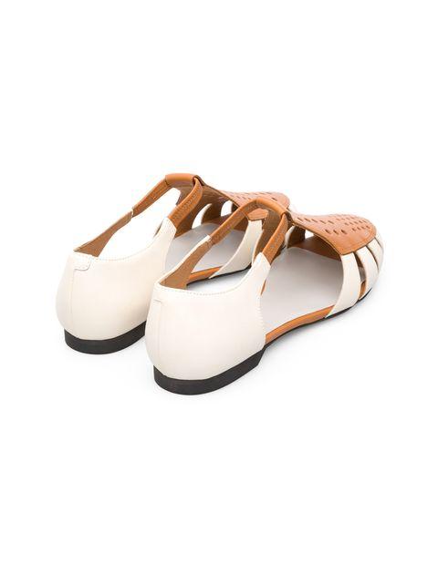 کفش چرم تخت زنانه Servolux - کمپر - سفيد - 6