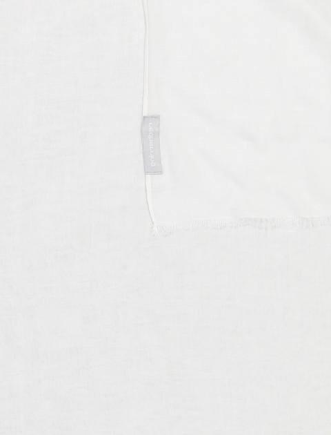 شال ویسکوز ساده زنانه - سفيد - 2