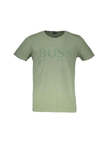 تی شرت نخی یقه گرد مردانه Tomlouis - باس اورنج