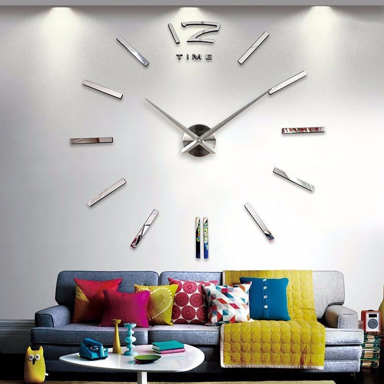 خرید ساعت دیواری پدیده شاپ مدل رافائل نقره ای