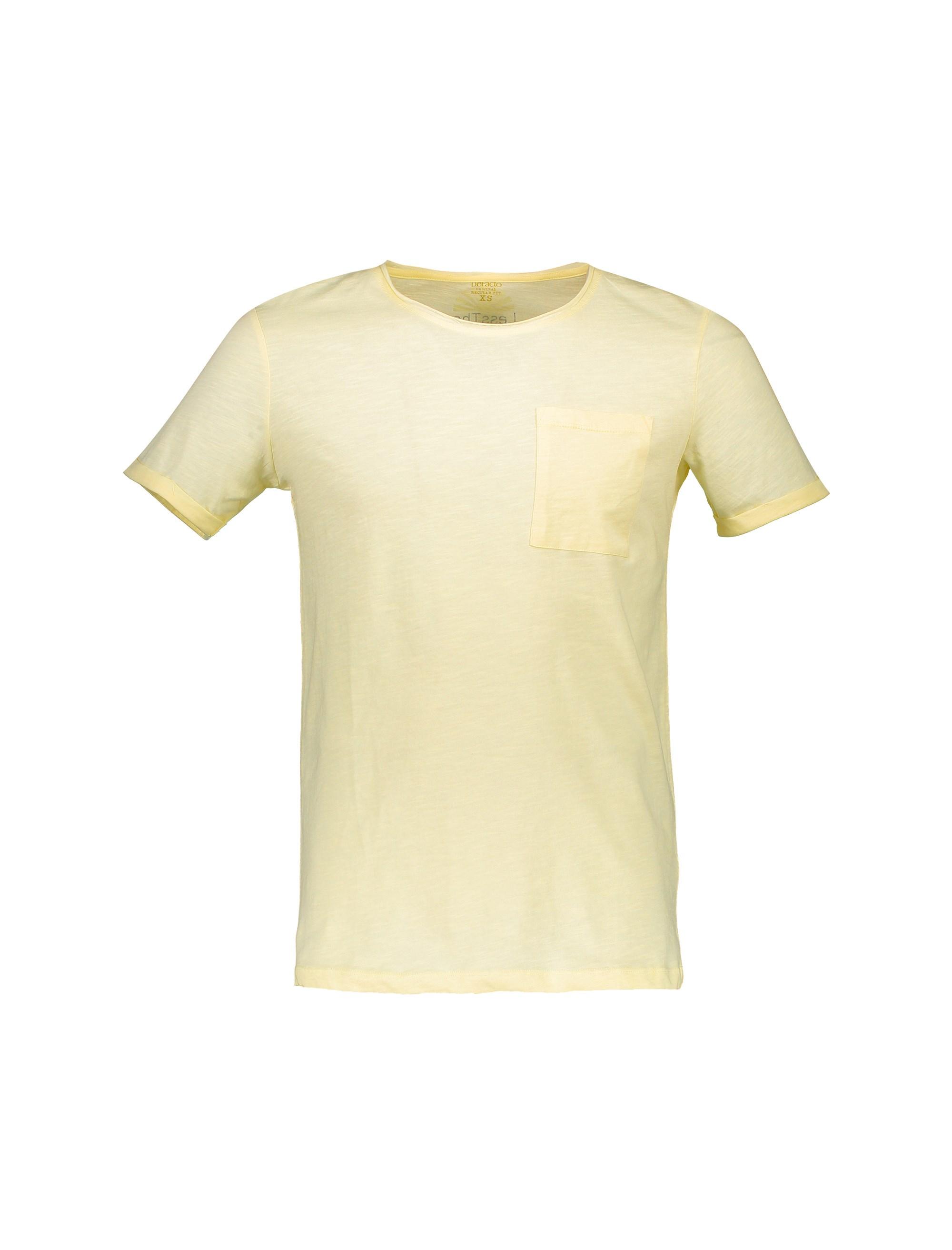 تی شرت نخی یقه گرد مردانه - دفکتو