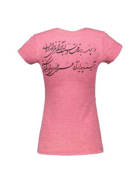تی شرت یقه گرد زنانه - قرمز  - 2