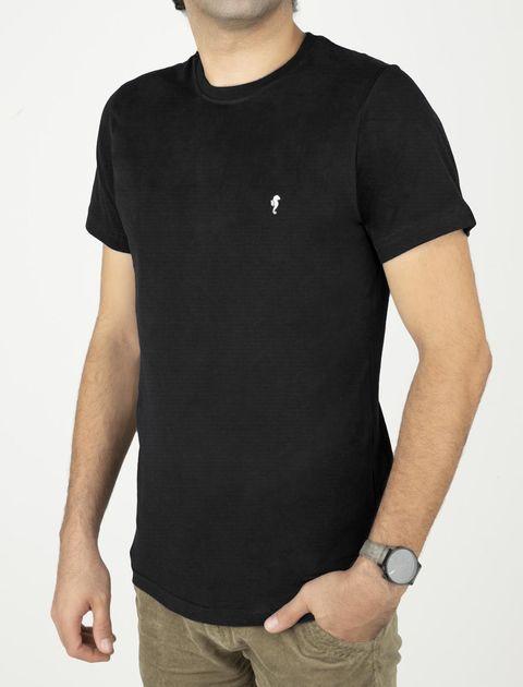 تی شرت نخی یقه گرد مردانه - زی - مشکي - 1