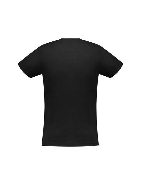 تی شرت نخی یقه گرد مردانه - زی - مشکي - 4