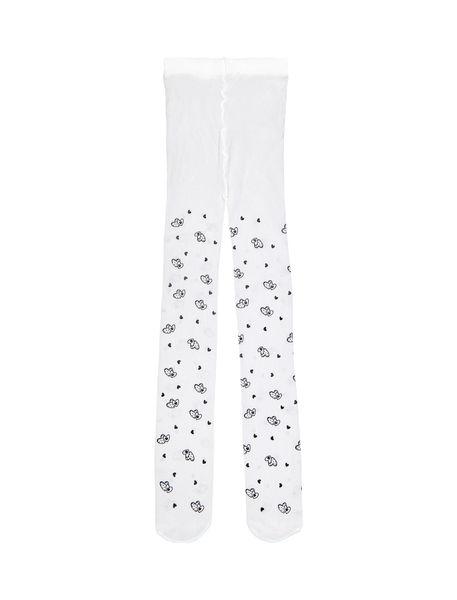 جوراب شلواری طرح دار دخترانه - سفيد - 2