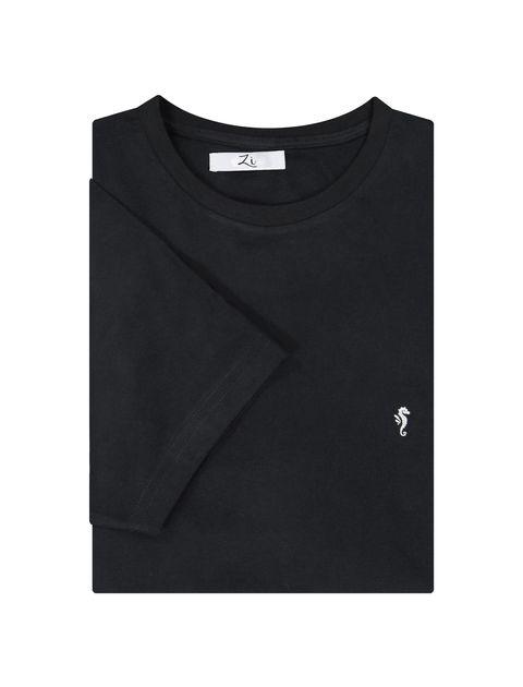 تی شرت نخی یقه گرد مردانه - زی - مشکي - 6