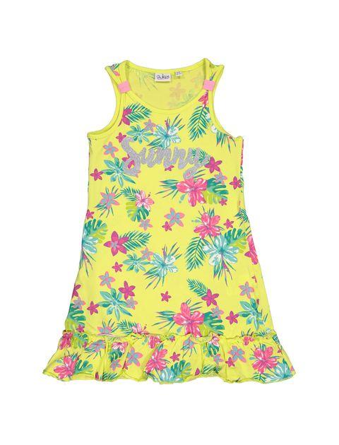 پیراهن نخی دخترانه - بلوکیدز - زرد روشن - 1