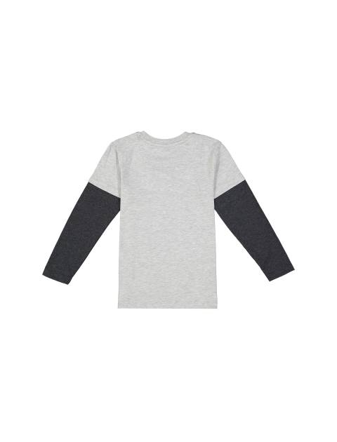 تی شرت نخی یقه گرد پسرانه - بلوزو - طوسي - 2