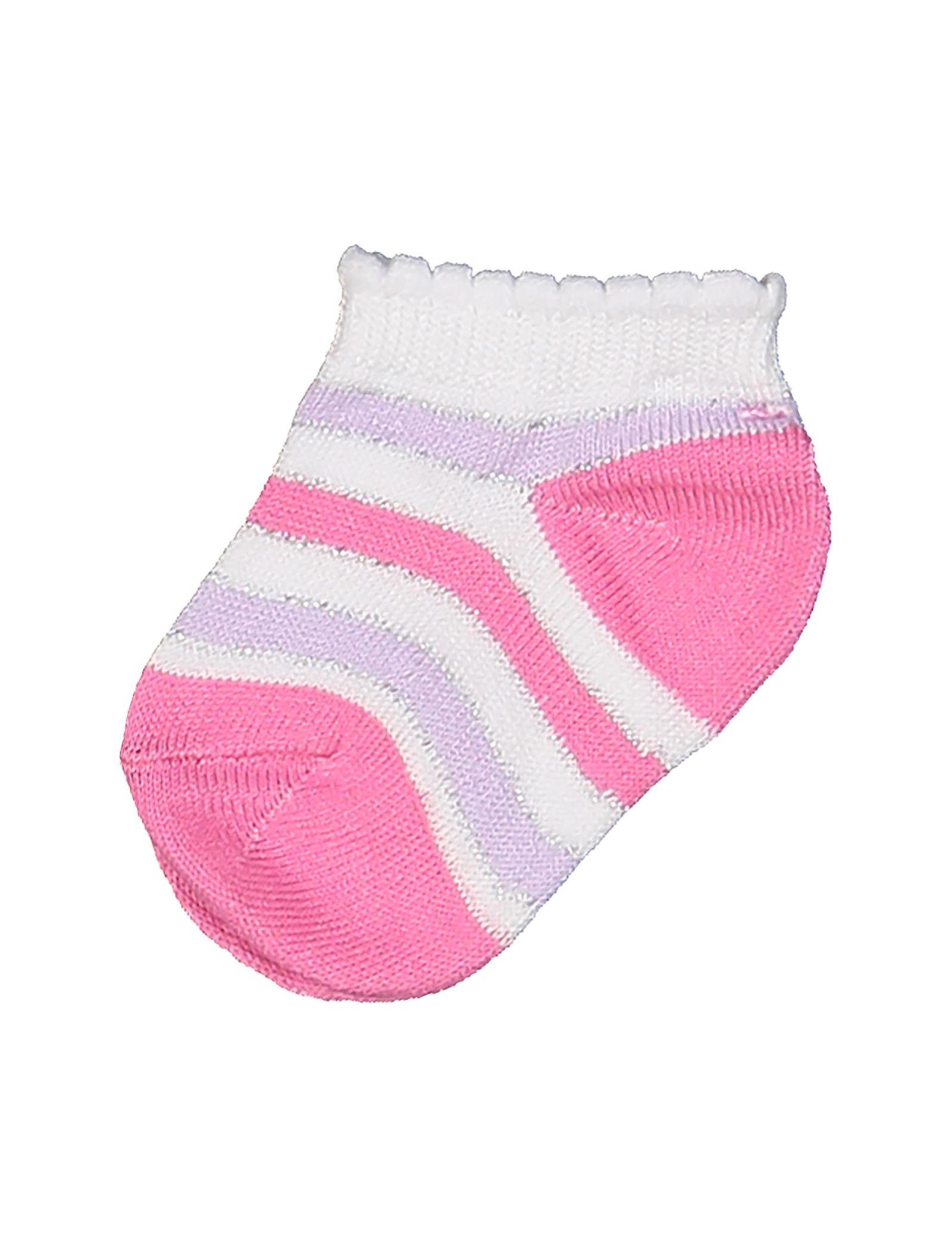 جوراب نخی نوزادی دخترانه بسته 3 عددی - بلوکیدز - بنفش و سفيد - 2