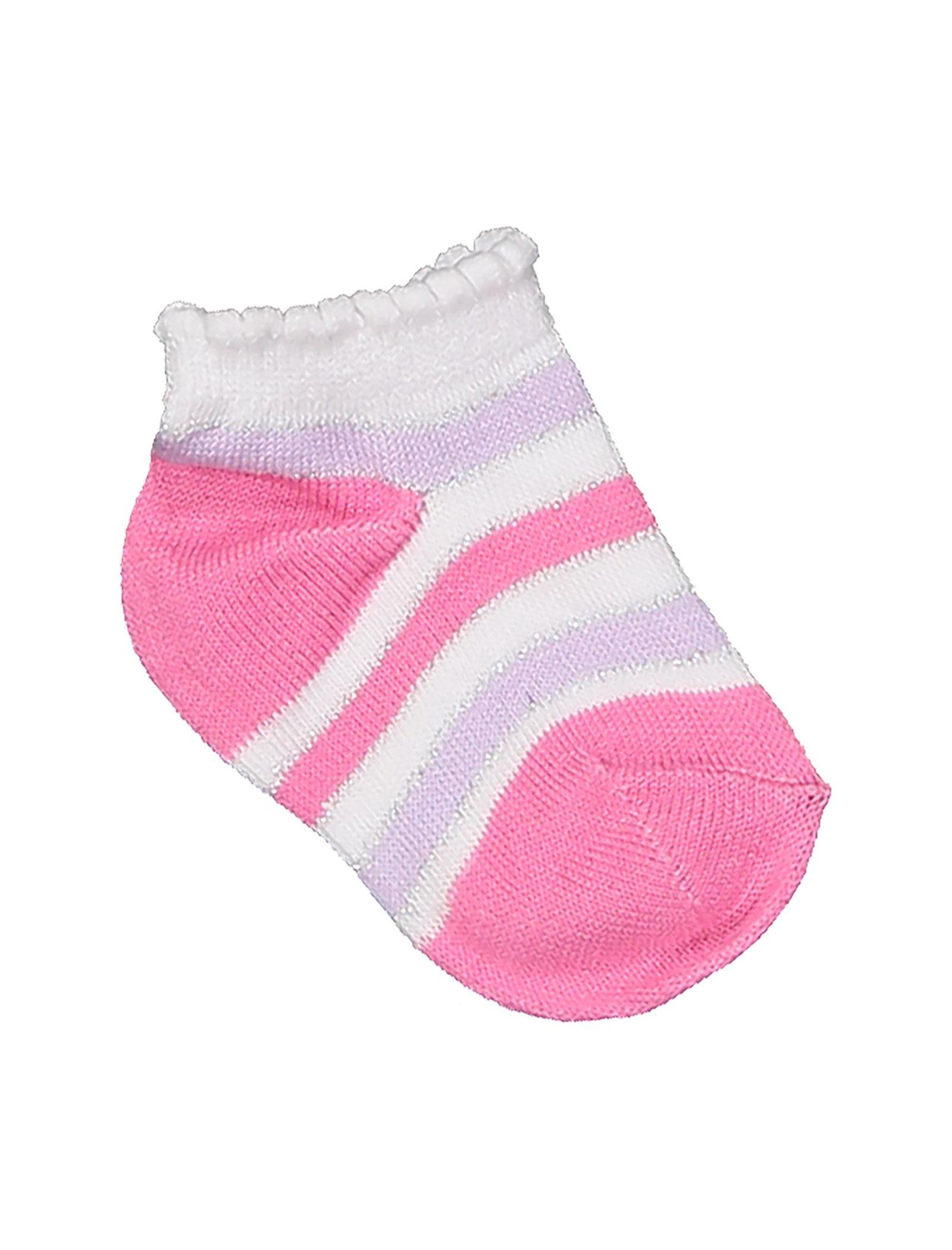 جوراب نخی نوزادی دخترانه بسته 3 عددی - بلوکیدز - بنفش و سفيد - 3