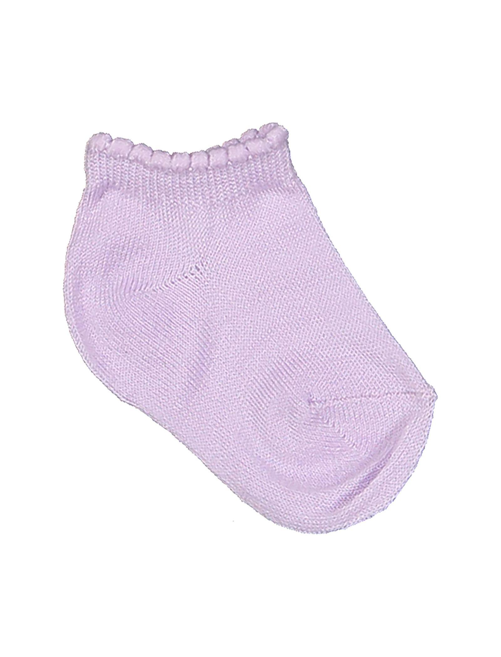 جوراب نخی نوزادی دخترانه بسته 3 عددی - بلوکیدز - بنفش و سفيد - 4