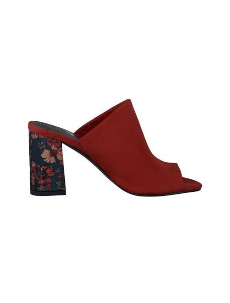 کفش پاشنه بلند زنانه - قرمز - 1
