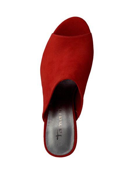 کفش پاشنه بلند زنانه - قرمز - 2