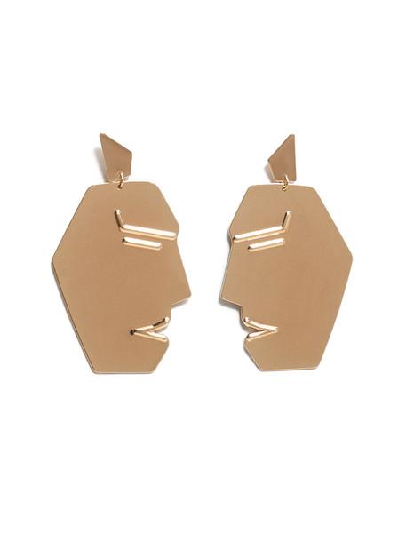 گوشواره استیل آویز زنانه - مانگو تک سایز