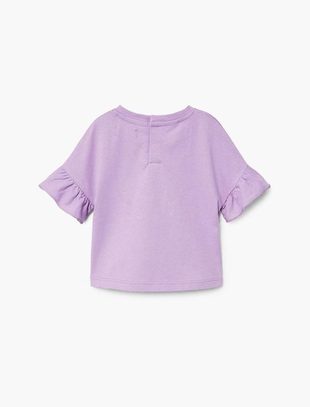 تی شرت نخی ساده نوزادی دخترانه - مانگو