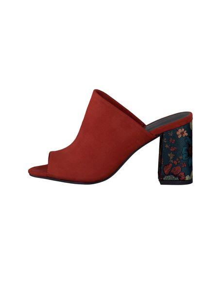 کفش پاشنه بلند زنانه - قرمز - 4