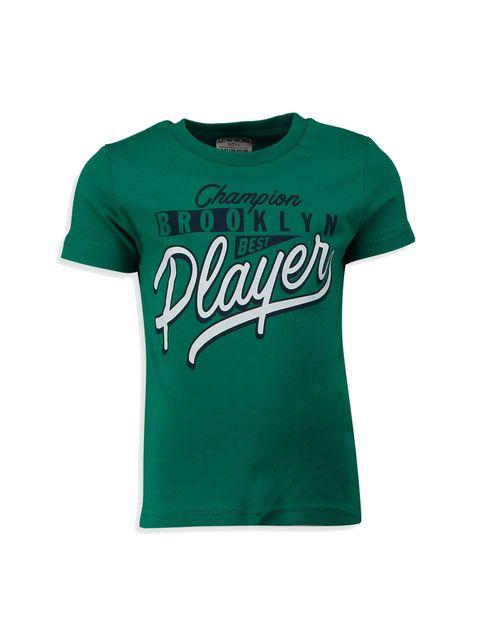 تی شرت نخی یقه گرد پسرانه - ال سی وایکیکی - سبز - 1