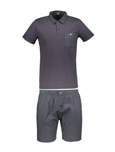تی شرت و شلوارک راحتی نخی مردانه - یوپیم