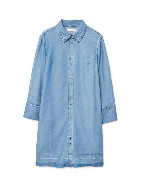 پیراهن جین کوتاه زنانه