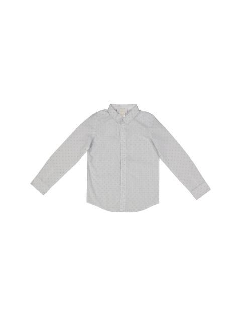 پیراهن نخی آستین بلند پسرانه - جاکادی - سفيد - 1