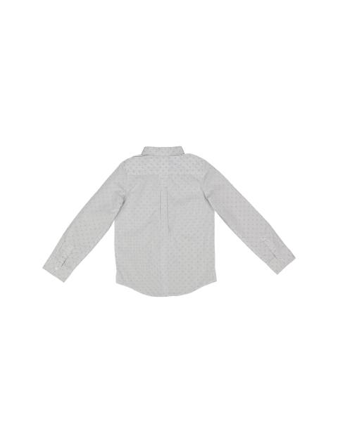 پیراهن نخی آستین بلند پسرانه - جاکادی - سفيد - 2