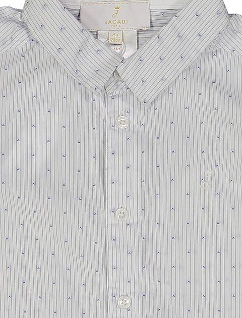 پیراهن نخی آستین بلند پسرانه - جاکادی - سفيد - 3