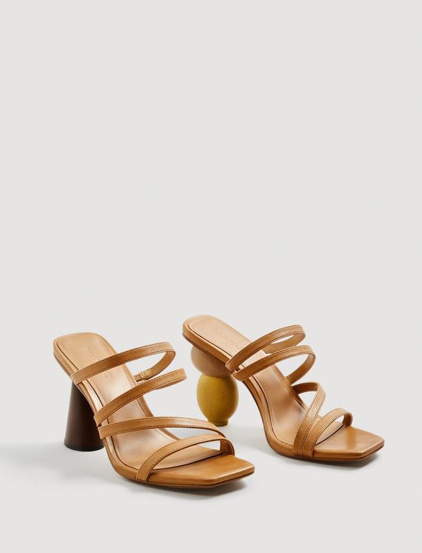 کفش چرم پاشنه بلند زنانه - مانگو