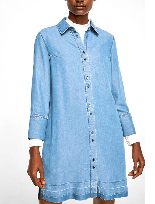 پیراهن جین کوتاه زنانه - مانگو