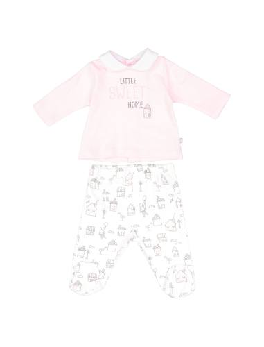 تی شرت و شلوار نخی نوزادی دخترانه