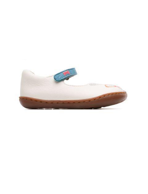 کفش چرم چسبی نوزادی دخترانه - کمپر - سفيد - 1
