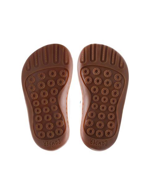 کفش چرم چسبی نوزادی دخترانه - کمپر - سفيد - 2