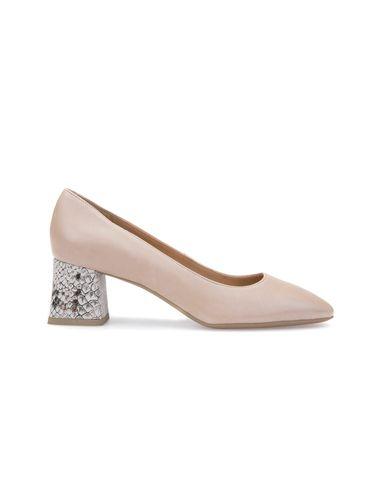کفش پاشنه بلند چرم زنانه SEYLA - جی اوکس