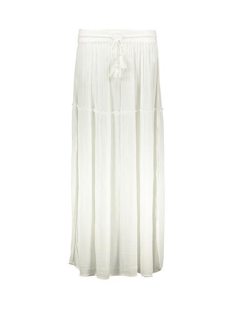 دامن ویسکوز بلند زنانه - سفيد - 1