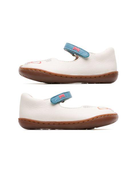 کفش چرم چسبی نوزادی دخترانه - کمپر - سفيد - 4
