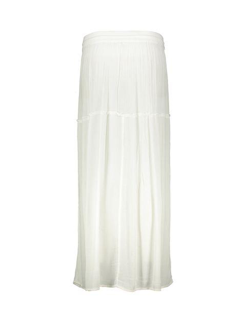 دامن ویسکوز بلند زنانه - سفيد - 2