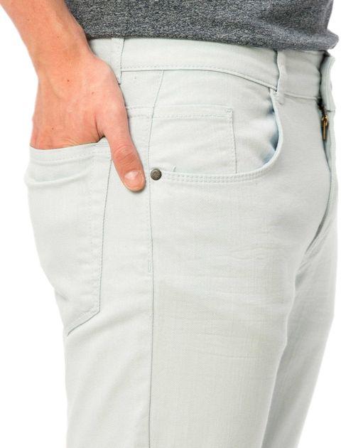 شلوار جین جذب مردانه - آبي روشن - 4