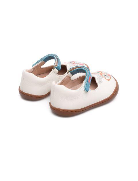 کفش چرم چسبی نوزادی دخترانه - کمپر - سفيد - 5
