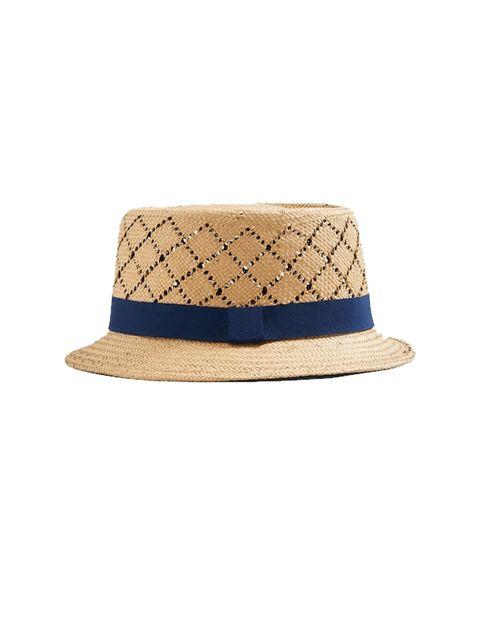 کلاه حصیری مردانه - سرمه اي - 1