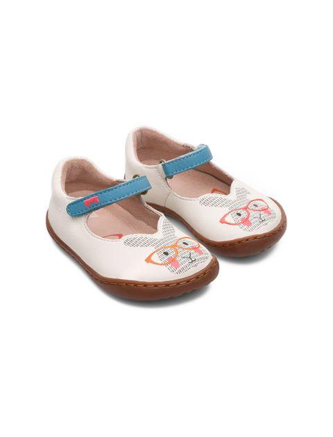 کفش چرم چسبی نوزادی دخترانه - کمپر - سفيد - 6